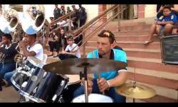 Apresentação da Corporação Musical no Encontro de Bandas em Guaraciaba