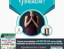 Leilão realizado em prol do Hospital do Cancer de Muriaé