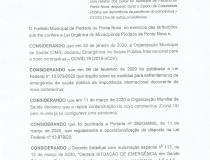 Decreto 023 de 18 de Maio de 2020