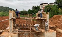 Obras para construção da ponte do Bairro Agreste